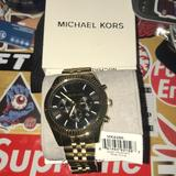 Michael Kors Accessories   Men'S Lexington Chronograph Stainless Steel Watch   Color: Black/Gold   Size: Os