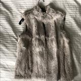 Michael Kors Jackets & Coats | Rabbit Fur Vest | Color: Gray | Size: M