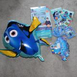 Disney Party Supplies | Finding Dory Birthday Party Decoration Lot Balloon | Color: Blue/Orange | Size: Os