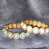 J. Crew Jewelry | Jcrew Bracelets | Color: Cream/Green | Size: Elastic Bracelets