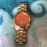 Michael Kors Accessories   Michael Kors Watch   Color: Gold/Orange   Size: Os
