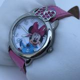 Disney Accessories | Disney Minnie Mouse Ladies Watch Pink Band Analog | Color: Pink/Silver | Size: Os