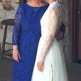 J. Crew Dresses | J.Crew Wedding - Mother Of The Bride Lace Dress | Color: Blue | Size: 14p