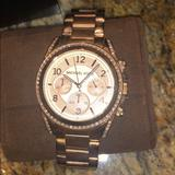 Michael Kors Accessories | Michael Kors Rose Gold Womens Watch | Color: Gold | Size: Standard Watch Size With Extra Links