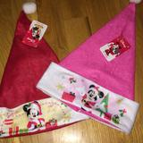 Disney Accessories | Mickey & Minnie Disney Christmas Santa Hat Hats | Color: Pink/Red | Size: Os