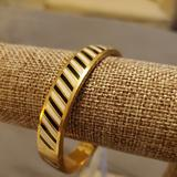 Kate Spade Jewelry   Kate Spade Gold Stripe Bangle   Color: Black/Gold   Size: Os
