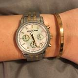 Michael Kors Accessories   Michael Kors Classic Womens Chronograph Watch   Color: Gold/Silver   Size: Os