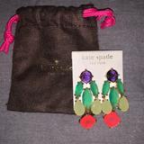 Kate Spade Jewelry | Kate Spade Jeweled Chandelier Earrings | Color: Pink/Purple | Size: Os