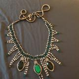 J. Crew Jewelry   J Crew Emerald And Diamonds Flux Necklace   Color: Green/Silver   Size: Os
