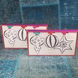 Kate Spade Holiday | Kate Spade Brushstroke Paper Ornament 2 Sets 12 | Color: Black/White | Size: Os