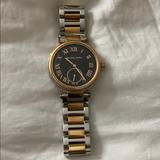 Michael Kors Accessories   Michael Kors Two Tone Watch   Color: Black/Gold/Silver   Size: Os