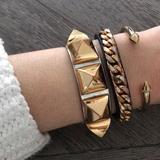 Michael Kors Jewelry | Michael Kors Gold Bangle Bracelet Wcrystal Detail | Color: Gold | Size: Os