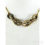J. Crew Jewelry | J. Crew Multi-Color Pave Stone Link Necklace 9 | Color: Gold/Silver | Size: Please See Description For Sizing