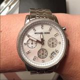 Michael Kors Jewelry | Michael Kors Silvertone Watch | Color: Silver | Size: Os