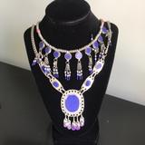 Free People Jewelry   Free People Silver And Blue Lapis-Like Necklace   Color: Blue/Silver   Size: 17 Inches