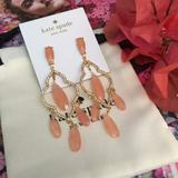 Kate Spade Jewelry | Kate Spade Lantern Quarts Chandelier Earrings | Color: Gold/Red | Size: Os