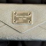 Michael Kors Bags | Micheal Kore Mini Clutch Evening Purse | Color: Silver | Size: Os