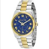 Michael Kors Accessories   Michael Kors Two Tone Watch   Color: Blue/Gold/Silver   Size: Os