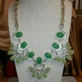 J. Crew Jewelry | J. Crew Gold, 'Shades Of Green' Statement Necklace | Color: Gold/Green | Size: Os