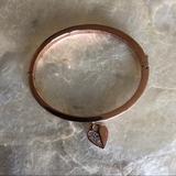 Michael Kors Jewelry | Michael Kors Crystal Pave Heart Bangle Bracelet | Color: Gold | Size: Os
