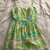 Lilly Pulitzer Dresses   Lilly Pulitzer Baby Doll Dress   Color: Green/Yellow   Size: 12