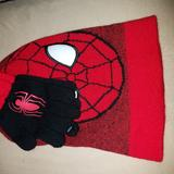 Disney Accessories | Hat Boys Set | Color: Red | Size: Osbb