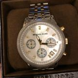 Michael Kors Accessories | Michael Kors Ritz Chronograph Two Tone Watch | Color: Gold/Silver | Size: Os