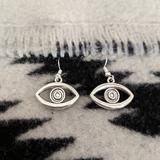 Urban Outfitters Jewelry   Illuminati Evil Eye Silver Earrings   Color: Silver   Size: Os
