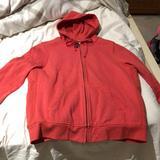 J. Crew Tops | J Crew Melon Sherpa Lined Sweatshirt Xl Worn1 | Color: Red | Size: Xl