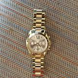 Michael Kors Accessories | Michael Kors Gold Rose Gold Chronograph Watch | Color: Gold | Size: Os