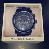 Michael Kors Accessories   Micheal Kors Black Stainless Steel Watch   Color: Black   Size: Os