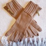 Michael Kors Accessories   Michael Kors Knit Gloves   Color: Tan   Size: Os