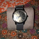 Michael Kors Accessories | Gray Michael Kors Watch With Dark Silver Face | Color: Gray/Silver | Size: Os