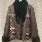 Zara Jackets & Coats | Real Rabbit Fur Reversible Jacket Blazer (L) | Color: Brown | Size: L