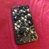 Pink Victoria's Secret Accessories | Iphone 5 Cell Phone Cover Case | Color: Black | Size: Iphone 5 Or 5s