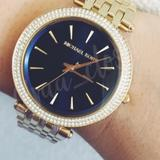 Michael Kors Accessories | Michael Kors Darci Blue & Crystal Watch | Color: Blue/Gold | Size: Os