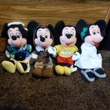 Disney Other | Disney Store Bean Bag Mickey Mouse Set Of 4 | Color: Black | Size: 9
