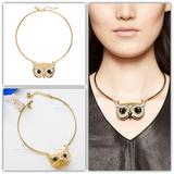 Kate Spade Jewelry | Kate Spade Into The Woods Owl Collar Necklace | Color: Gold | Size: Os