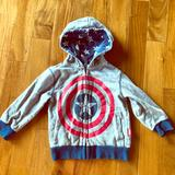 Disney Shirts & Tops   Captain America Hoodie From Disney Store   Color: Blue/Gray   Size: 3tb