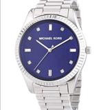 Michael Kors Accessories | Michael Kors Blue Stainless Steel Watch | Color: Blue/Silver | Size: Os
