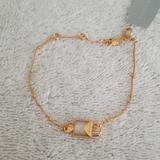 Michael Kors Jewelry | New Michael Kors Mercer Gold Padlock Bracelet | Color: Cream/Gold | Size: Up To 7 With 1 Extender