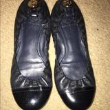 Tory Burch Shoes   Guc Tory Burch Navy Leather Ballet Flats Shoes 6   Color: Blue   Size: 6