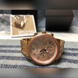 Michael Kors Accessories | Michael Kors Ritz Rose Gold Watch | Color: Gold | Size: Os
