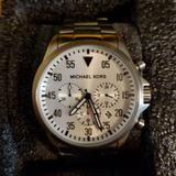 Michael Kors Accessories | Michael Kors Men'S Gage Silver-Tone Watch Mk8331 | Color: Silver/White | Size: Os