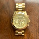 Michael Kors Accessories   Mk Runway Oversized Stainless Steel Watch- Gold   Color: Gold   Size: Os