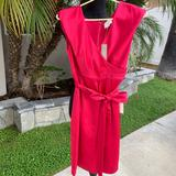 J. Crew Dresses   J. Crew - Red Satin Dress Short Sleeve -Brand New!   Color: Red   Size: 2p