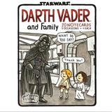 Disney Office | New Darth Vader And Family Notecards | Color: Black/White | Size: Os