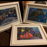 Disney Wall Decor   Disney Pixar Finding Nemo Picture With Frame   Color: White   Size: 16 In X 13 In