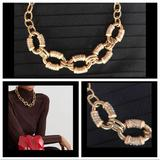J. Crew Jewelry | J. Crew Chain Link Gold Necklace | Color: Gold/Tan | Size: 21-24