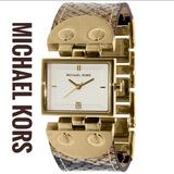 Michael Kors Accessories | Michael Kors Gold Stainless Steel 27mm Women Watch | Color: Brown/Gold | Size: New Battery